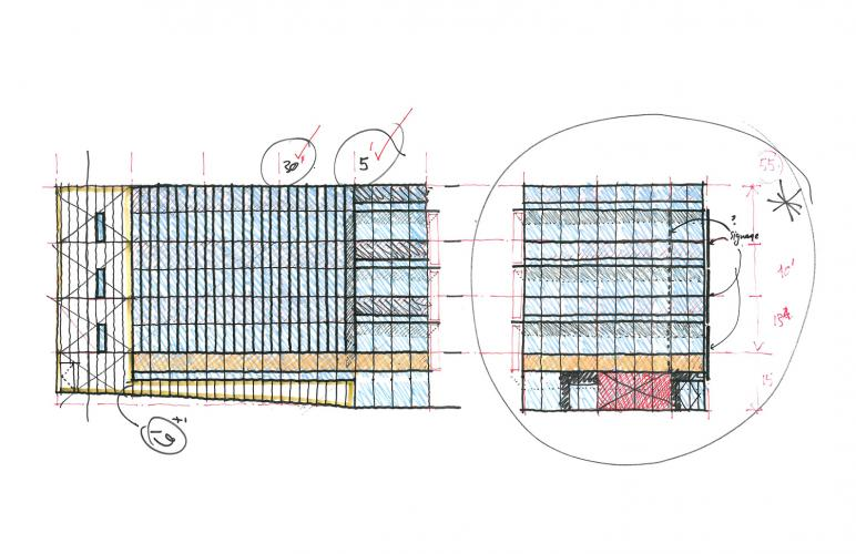 Drawing, Elevation