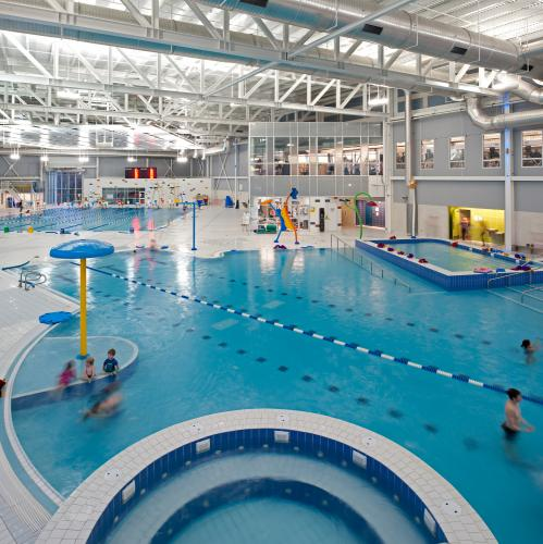 Canada Games Centre, interior, pool