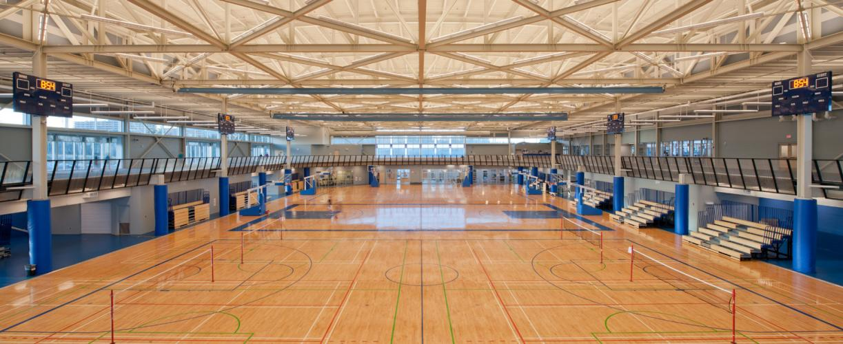 Canada Games Centre, interior, fieldhouse